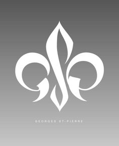 This logo for Georges St-Pierre, an MMA fighter from Quebec very cleverly turns his initials into the fleur-de-lis Blog Design, Logo Design Inspiration, Fitness Inspiration, Gsp Ufc, George Saint Pierre, Tatoo Design, Logo Fleur, Peacock Logo, Branding