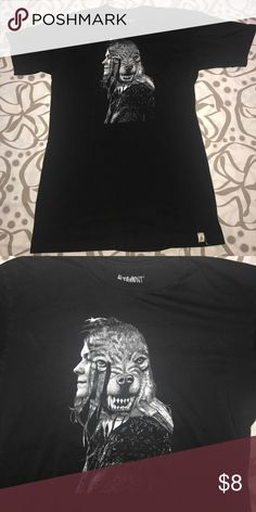 Skateboard brand Altamont Tee Black with face/wolf graphic tee Altamont Shirts Tees - Short Sleeve