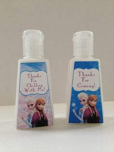 Disney Frozen Pocket Sized Lotion Favors - disney frozen party favor, unique favor idea