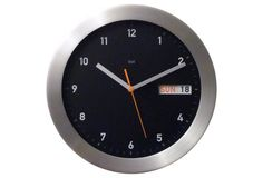 Zander Day/Date Wall Clock, Black