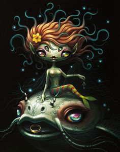 "Yoko d'Holbachie for ""Nightmare in Wonderland"" Group Show at Distinction Gallery 