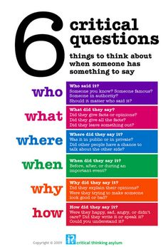 e-learning, conocimiento en red: 6 critical questions ... things to think about when someone has something to say