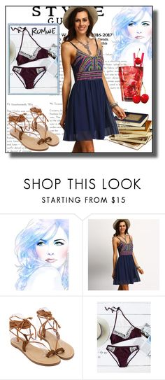 """""""//Romwe(summer style)set 8.//"""" by fahirade ❤ liked on Polyvore featuring vintage"""
