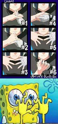 Spongebob, I know that feel... #sasuke #naruto