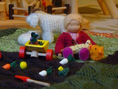 Knitted and Crocheted Farm Mat