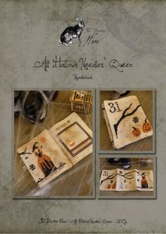"Another great addition to the Needles' Queen Series from The Primitive Hare is this cross stitch pattern titled ""All Hallows Needles Queen""...."
