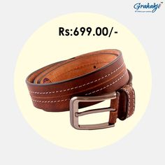 Buy Men s Leather Belts online at best Price in India Grahakji.com  Leather    6e4f7eea47e0