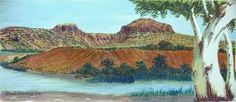 Western MacDonnell Ranges Namatjira Legacy- Aboriginal Art exhibited at Japingka Gallery Aboriginal History, Aboriginal Art, Landscape Paintings, Watercolor Paintings, Watercolours, Australian Art, Love Art, Les Oeuvres, Vintage Posters