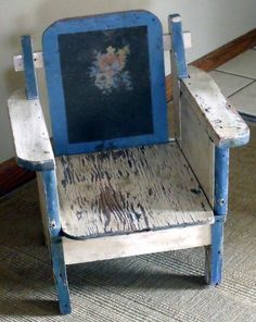 vintage doll's chair