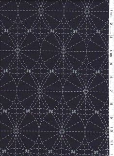Sashiko - Japanese textile stitching patterns-I am intrigued by the structural nature of this pattern and I would interested to see how the artisans would approach this traditional form of stitching.