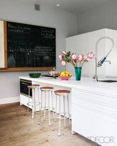 House & Post: Christine d'Ornano- SISLEY  breakfast bar stools from a flea market