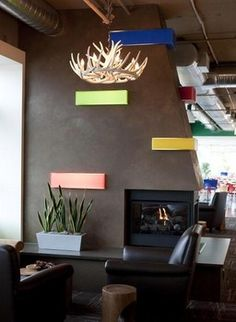 A fireplace feature for Google Kirkland Facility