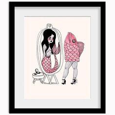 Fishmaid Print | Valfre.com