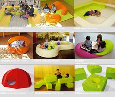 PLAY+ furnitures for children - microsites. Reggio furniture/play objects transforming spaces.