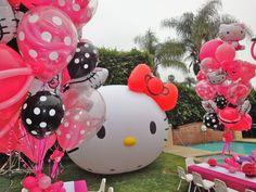 Hello Kitty birthday party balloon decorations