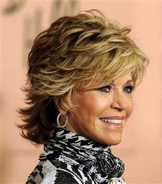 Jane Fonda's shag cut, side view