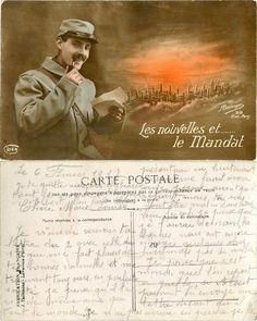 Les nouvelles et ... le Mandat - 1917 (from http://mercipourlacarte.com/picture?/1083/)
