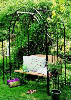 bancos de jardim almofadas