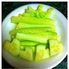 A sweet & fun way to eat cucumbers with salt & lime ;)