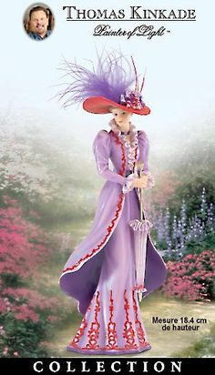 Thomas Kinkade Figurines Collection | Bradford Exchange Quebec - Figurines Thomas Kinkade en forme de dames ...