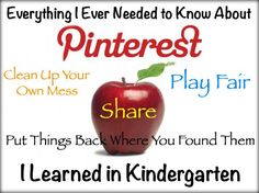 everything you need to know about Pinterest & copyright you learned in kindergarten