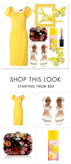 """""""Yellow"""" by cicamaca86 ❤ liked on Polyvore featuring Dolce&Gabbana, H&M, WithChic, Elizabeth Arden, MAC Cosmetics and Spring"""