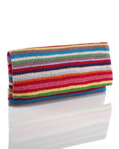 Moyna Crochet Fold-Over Clutch. Bet you could DIY this pretty easy. Lovely.