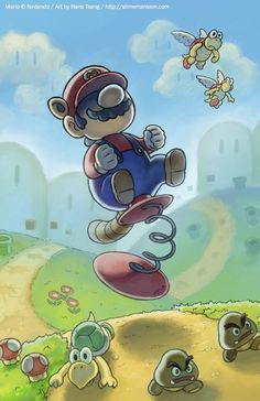 Mario Spring Toy by ~slimu on deviantART