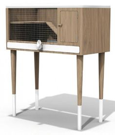 Designer bunny hutch - Chimere pet furniture by Bloom Room