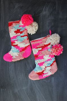 Weave your own stockings this year! (click through for tutorial)
