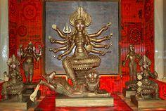 Lakshmi, Ganesha, Durga, Kartikeya, and Saraswati Durga Maa, Durga Goddess, Unity In Diversity, Divine Mother, Divine Feminine, Gods And Goddesses, Hinduism, Ganesha, Deities
