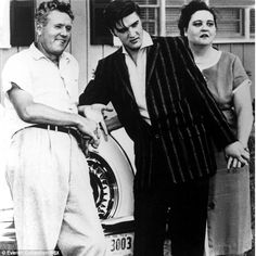 Elvis and his parents Vernon and Gladys in the mid 1950s...