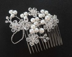Zuchtperlen Kristall Haargesteck zur Hochzeit