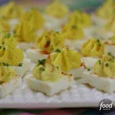 Forget about peeling shells the next time you make deviled eggs! In this fun, square version, whites and yolks are separated, cooked individually and then brought back together to taste just like the original.