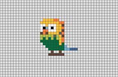 The Secret Life of Pets Sweet Pea Pixel Art from BrikBook.com #TheSecretLifeofPets #SweetPea #Budgie #Bird #pixel #pixelart #8bit Shop more designs at http://www.brikbook.com