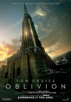 Oblivion - Saw it in theatre.  3.5/5  The movie itself is a great concept.  The cinematics and special effects were amazing.  To me the ending was a bit of a let down.  I AM not a Cruise fan, I think he's a little off his rocker.  But I do still think he's a decent actor.  The whole landscape of the film was really different and awesome and the movie was really not what I expected.  It was better then expected.  I would have rated this movie higher if it hadn't been for the ending.