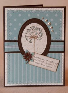 Stampin Up; Simply Soft in baja breeze. pretty blue cards. Could also use boho blossoms punch for the flowers.