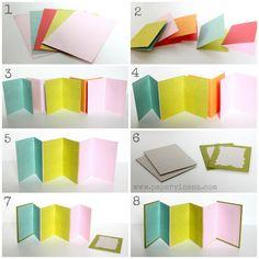 I like the various colors in the album PaperVine: Accordion Mini Album Tutorial (Echo Park)