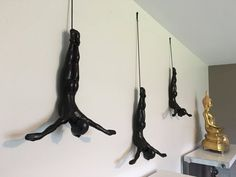 3 Piece Plunging Sculpture Wall Art Gift For Plungers by MTLDecor
