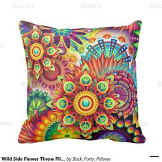 Wild Side Flower Throw Pillow http://www.zazzle.com/wild_side_flower_throw_pillow-189697979063379018?rf=238588924226571373