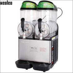 1995.00$  Buy now - http://alifiq.worldwells.pw/go.php?t=32773880141 - Xeoleo Double cylinder Slush machine 12L*2 Snow melt machine Smoothie machine 220V  Snow grains Slush dispenser Smoothie maker 1995.00$