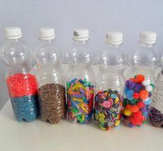 Hacer maracas con botellas de plástico