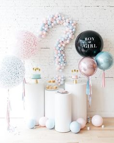 8 Gender Reveal Party Ideas You have to Try! A roundup of some amazing and unique gender reveal ideas that you and your loved ones will love! reveal 8 Gender Reveal Ideas You Have To See Gender Reveal Party Games, Gender Reveal Themes, Gender Reveal Balloons, Gender Reveal Party Decorations, Gender Party Ideas, Baby Reveal Party Ideas, Gender Reveal For Siblings, Gender Reveal Pinata, Twin Gender Reveal
