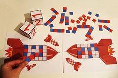 Jeux mathématiques pour apprendre à compter, dénombrer... Math Projects, Projects For Kids, Maths Investigations, Aviation Theme, Montessori, Fractions, Math Numbers, Preschool Printables, Kids Patterns