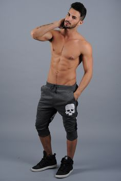 Maor Luz black and gray skull pants, yeah it's all about the pants, yep the pants.