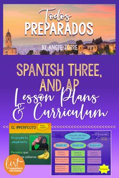 Spanish Three and AP Lesson Plans and Curriculum for an Entire Year Bundle High School Spanish, Ap Spanish, Spanish Class, Teaching Spanish, Spanish Lesson Plans, Spanish Lessons, Comprehensible Input, Bell Ringers, Balanced Life