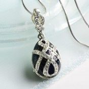 Faberge Egg Pendant-Russian necklace