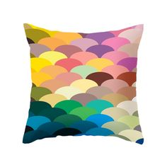 Celebrate color with this remarkable pastel fish scale–patterned pillow. Whether you love a maritime theme or just love it for its riot of hues, it'll be a bright spot in your home. Choose either pillo...  Find the Scale Spectrum Pillow in Pastel, as seen in the Secret Sale Collection at http://dotandbo.com/collections/secret-sale?utm_source=pinterest&utm_medium=organic&db_sku=MBW0020