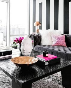 Fifty shades of Grey...and a pop of Fuscia. Who else's in love??
