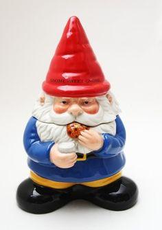 Ceramic Gnome Sweet Gnome Cookie Jar